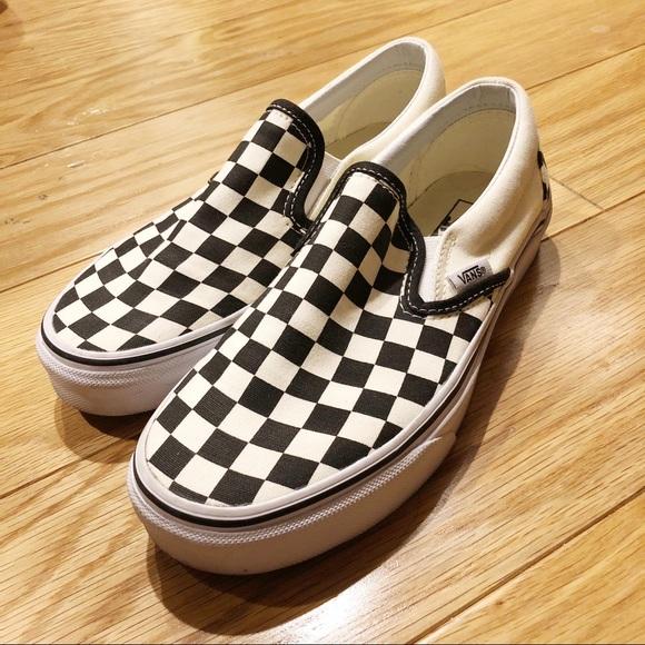 b7980f28e2a3 Vans Shoes - Classic Checkered Slip-Ons - Vans